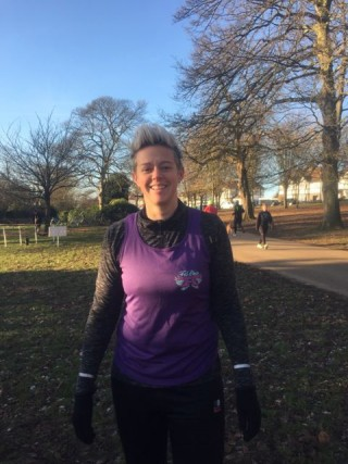 Bec at ParkRun Jan 2015