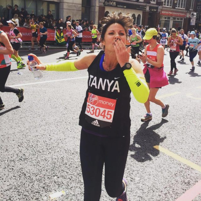 Tanya at the London Marathon
