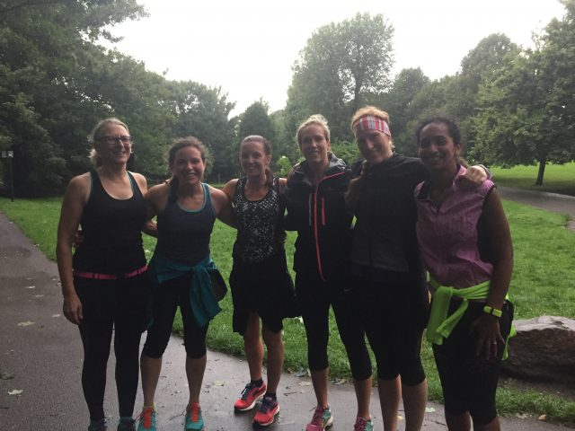 Running with others ensure you get out there even when it's raining